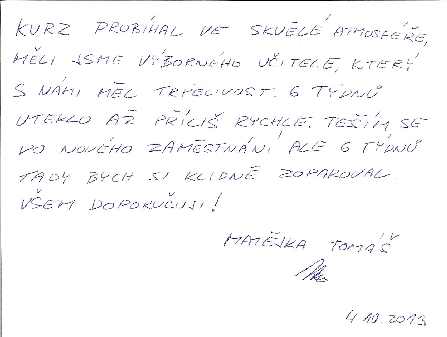 CGS Praha reference