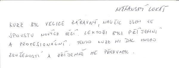 Reference Lukáš Nižňanský